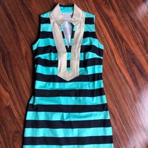 Sail to Sable Striped Blue Shift Size XS